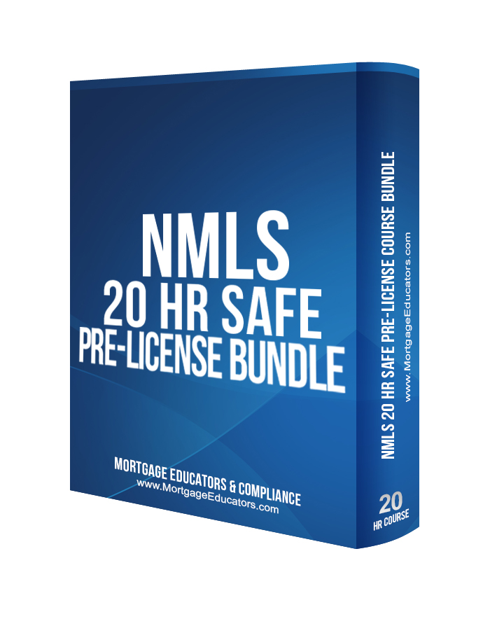 2019 Live WEBINAR - NMLS 20 Hour S A F E  Comprehensive Pre-licensure  Course Bundle With Test Prep October 8th - 10th